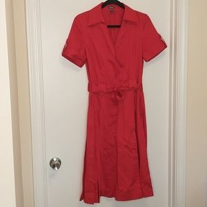 Kenneth cole reaction red retro faux wrap dress